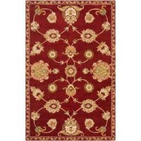 Hand-tufted Red Amurensis Wool Area Rug (9' x 13')