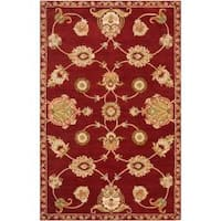Hand-tufted Red Amurensis Wool Area Rug - 9' x 13'