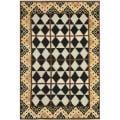 Safavieh Hand-knotted Gabeh Tribal Black/ Multi Wool Rug - 8' x 10'