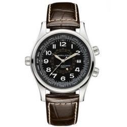 Hamilton Men's Khaki and Navy Utc Black Dial Watch