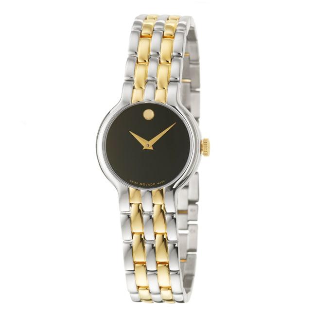 Movado Women's 'Veturi' Yellow Goldplated Steel Quartz Watch