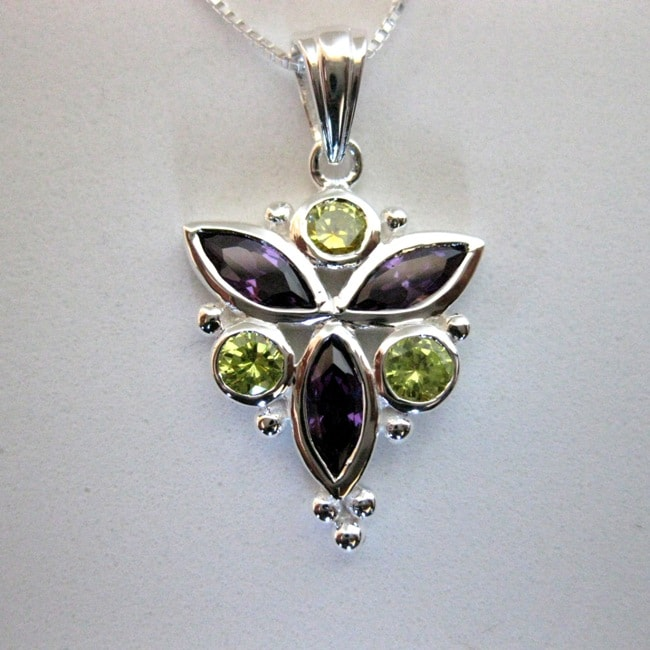 Handmade Sterling Silver Cubic Zirconia Necklace (Thailand)