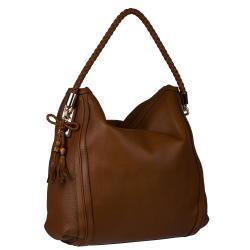 Gucci Bella Brown Large Leather Hobo Bag - Thumbnail 1