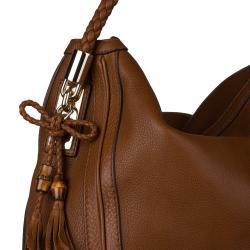 Gucci Bella Brown Large Leather Hobo Bag - Thumbnail 2