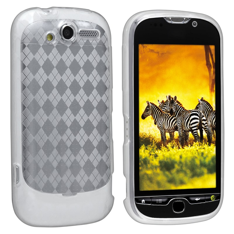 Clear Argyle TPU Rubber Skin Case for HTC T-Mobile myTouch 4G - Thumbnail 0