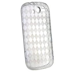 Clear Argyle TPU Rubber Skin Case for HTC T-Mobile myTouch 4G - Thumbnail 2