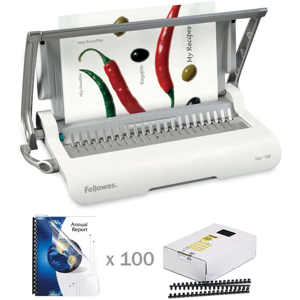 Fellowes Star Manual Comb Binding Machine Kit