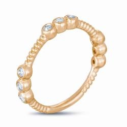 14k Yellow Gold 1/5ct TDW Diamond Stackable Ring (G-H, I1-I2) - Thumbnail 1