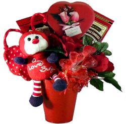 Love Bug Chocolate and Candy Gift Basket