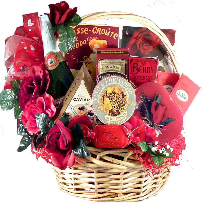 """Gift Baskets: """"My Gourmet""""  Gift Basket with Caviar and Chocolate"""