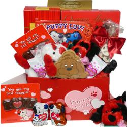 Puppy Love' Chocolate & Candy Gift Box