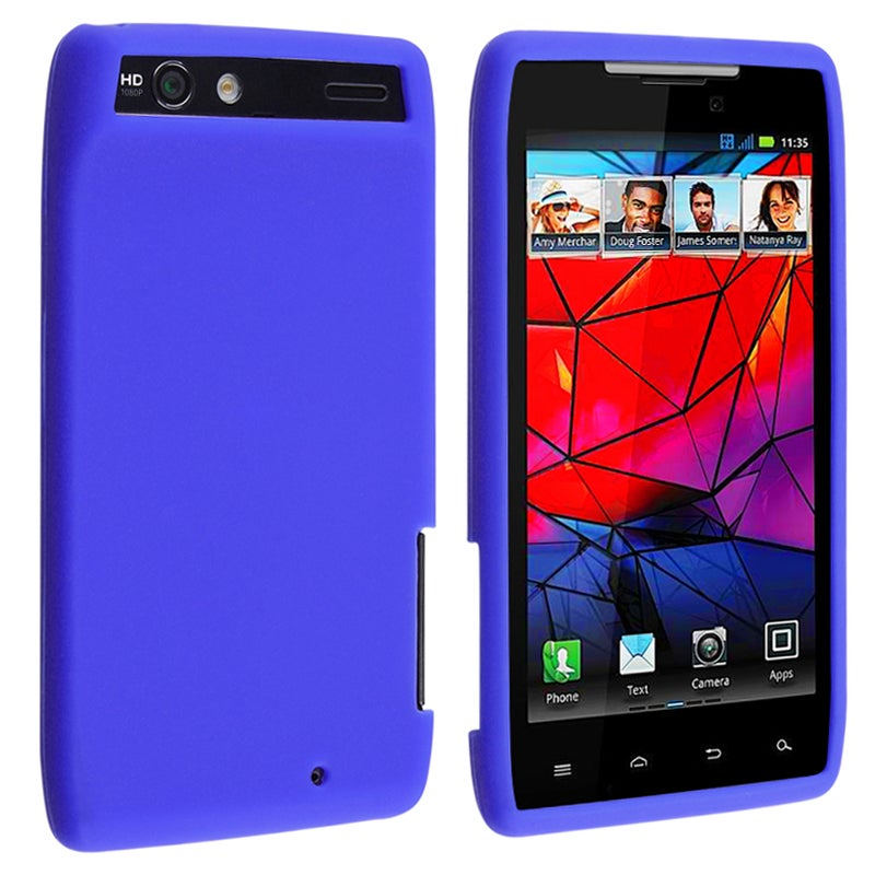Blue Silicone Skin Case for Motorola Droid RAZR XT910