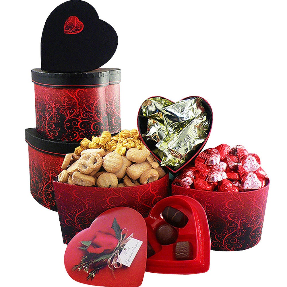 My Heart's Desire' Chocolate and Candy Gourmet Food Gift Tower