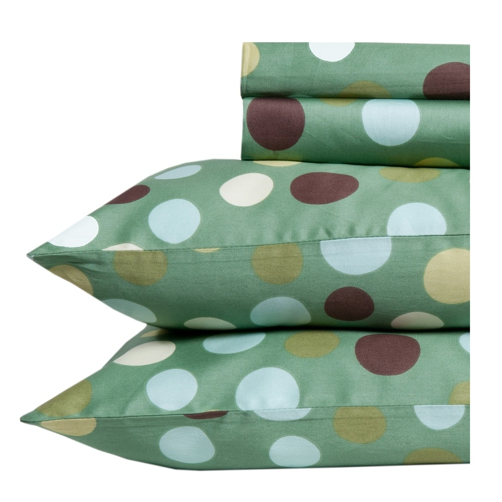 Dubai Polka Dot Print Egyptian Cotton 350 Thread Count Deep Pocket Sheet Set