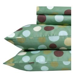 Dubai Polka Dot Print Egyptian Cotton 350 Thread Count Deep Pocket Sheet Set - Thumbnail 0