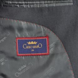 Men's Charcoal Grey 3-Button Vested Suit