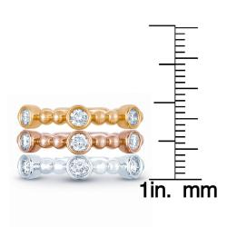 14k Gold 7/8ct TDW Diamond Stackable Ring Set (H-I, I1-I2)