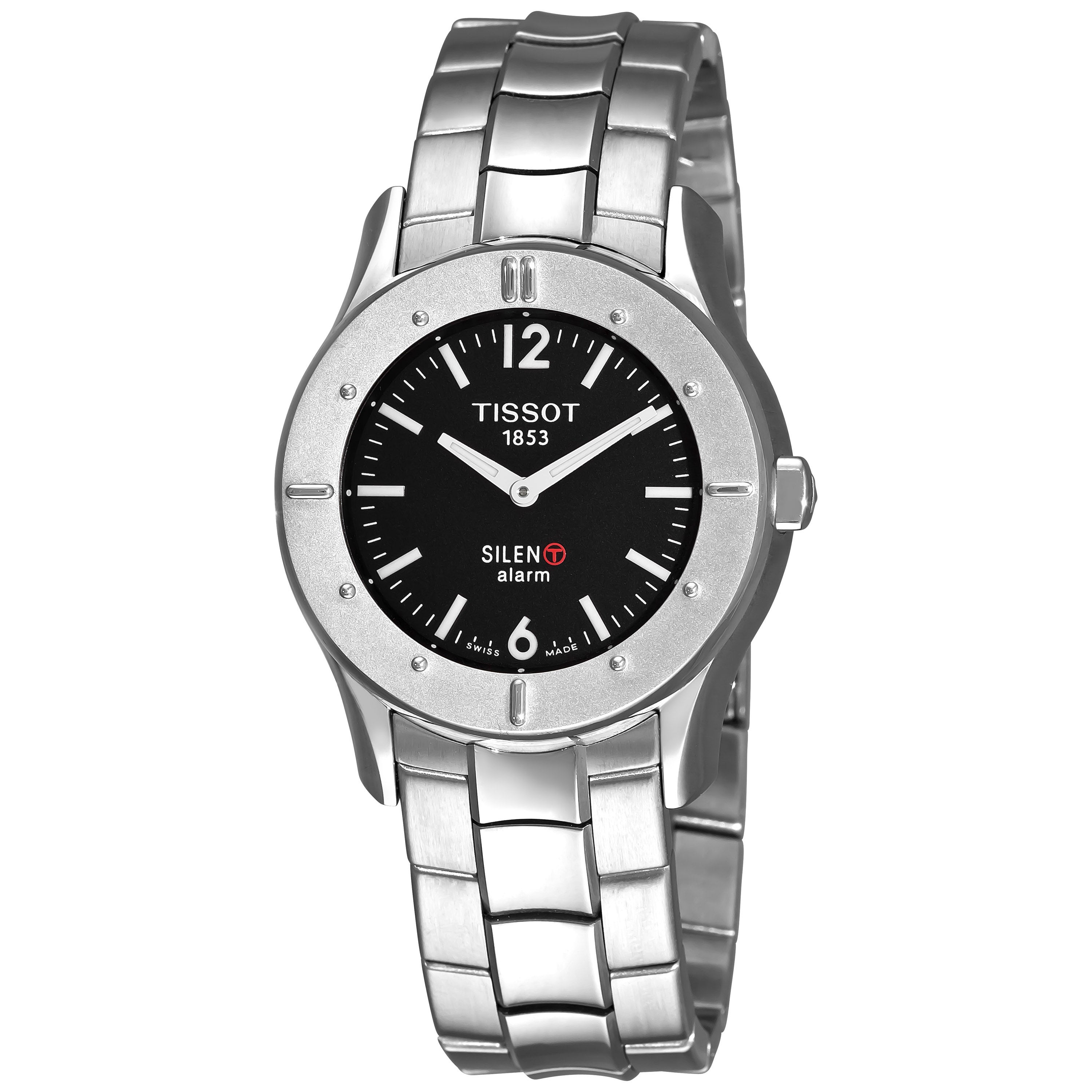 145ccbbbacc Shop Tissot Men s  Touch Silent  Black Dial Stainless Steel Quartz Watch -  Free Shipping Today - Overstock - 6477985