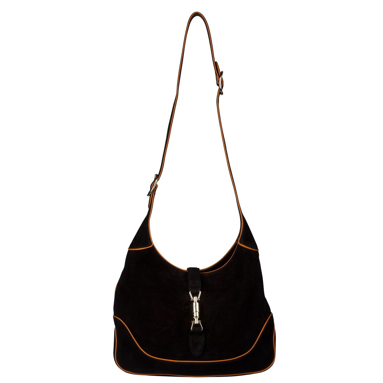 Gucci Black Suede Hobo Handbag