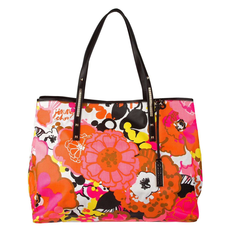 Jimmy Choo 'Scarlet' Floral Print Tote Bag