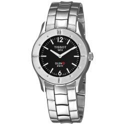 Tissot Men's 'Touch Silent' Black Dial Stainless Steel Quartz Watch