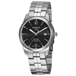 Tissot Men's 'PR-100' Black Dial Stainless Steel Automatic Watch