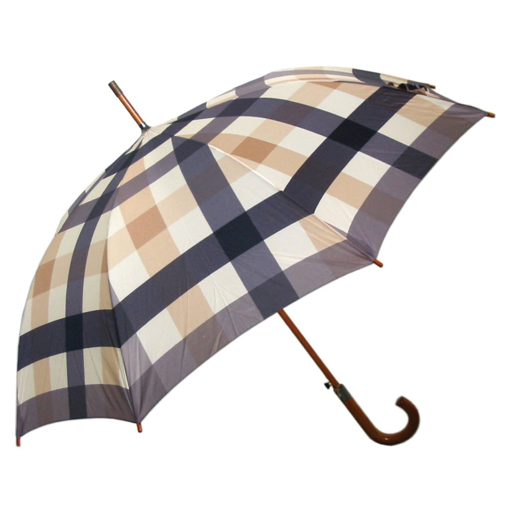 Laura Ashley Mitford Check Charcoal Automatic-Opening Umbrella