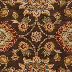 Hand-tufted Wool Chocolate Waltzer Rug (7'6 x 9'6) - Thumbnail 2