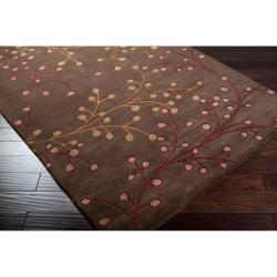 Hand-tufted 'Web' Chocolate Wool Rug (7'6 x 9'6) - Thumbnail 1