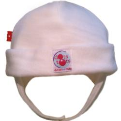Dots on Tots Baby Organic Cotton and Fleece Ear-Flap Hat - Thumbnail 1
