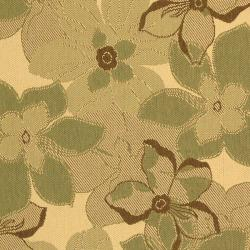 Safavieh Courtyard Floral Natural Brown/ Olive Green Indoor/ Outdoor Rug (5'3 x 7'7) - Thumbnail 2