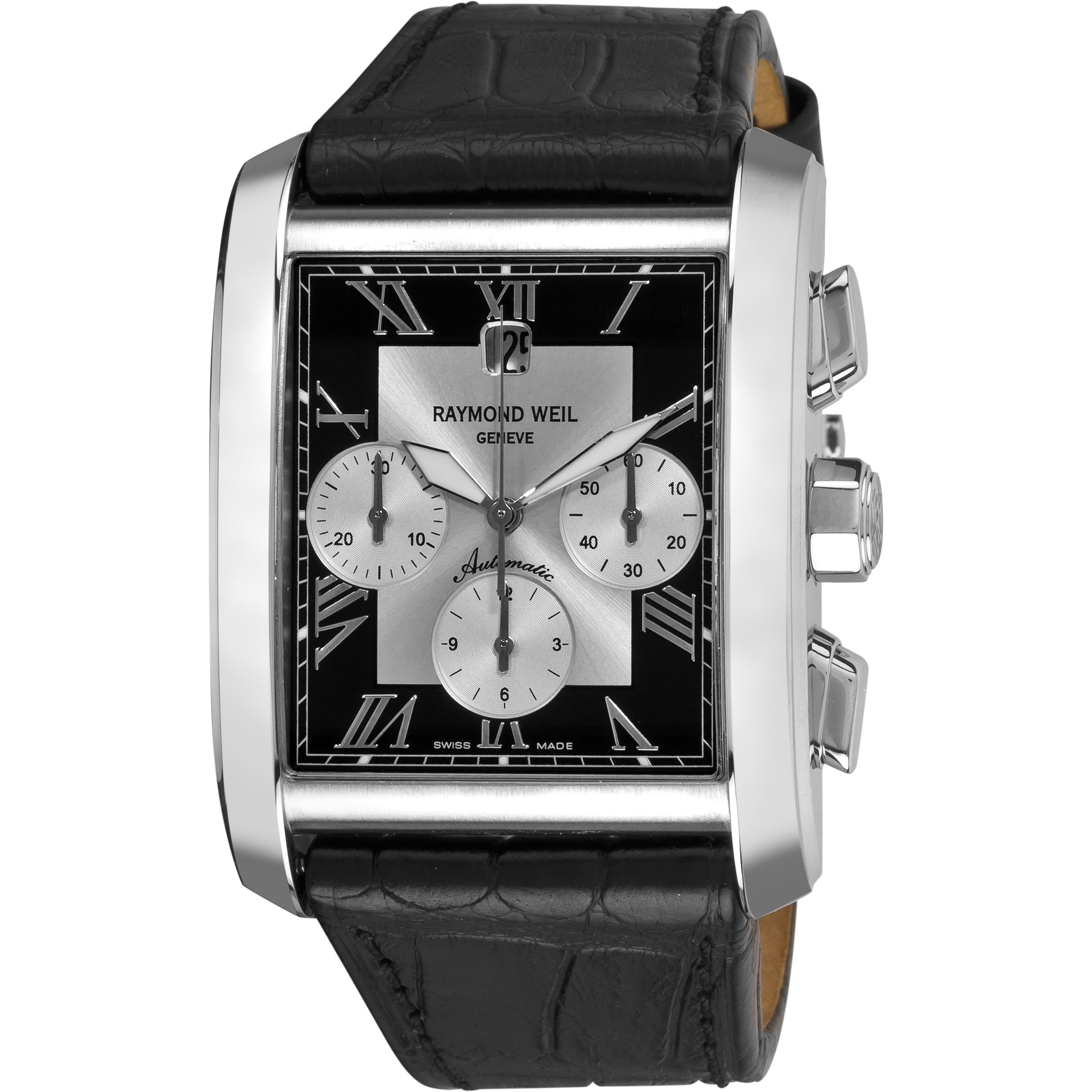 Raymond Weil Men's 'Don Giovanni' Black Leather Strap Automatic Watch