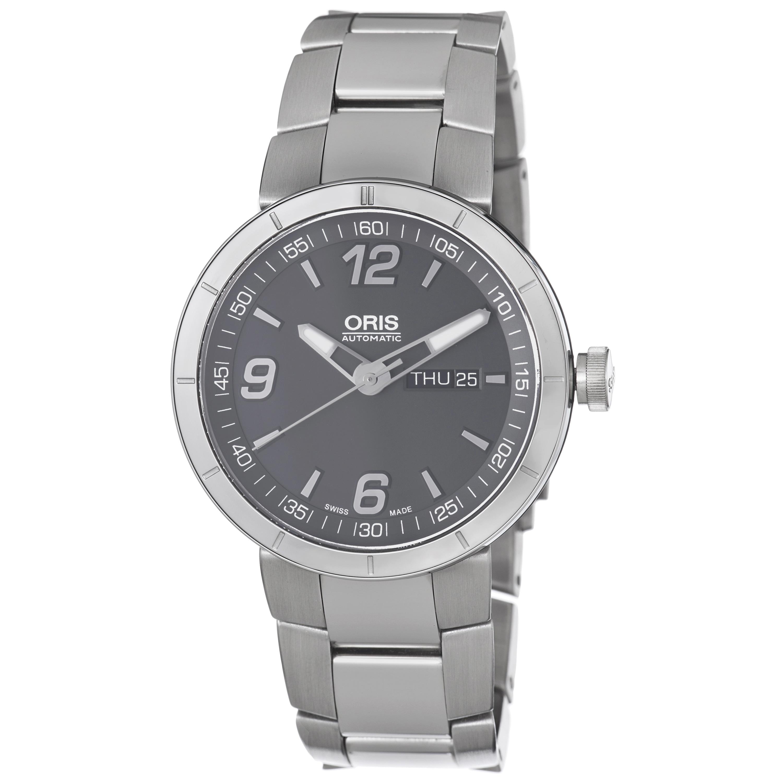 Oris Men's 'TT1' Grey Dial Stainless Steel Bracelet Automatic Watch