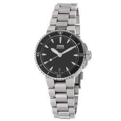 Oris Women's 'Aquis' Stainless Steel Bracelet Automatic Watch