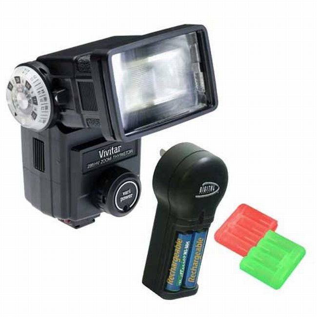 Vivitar 285HV Camera Flash Kit for Canon