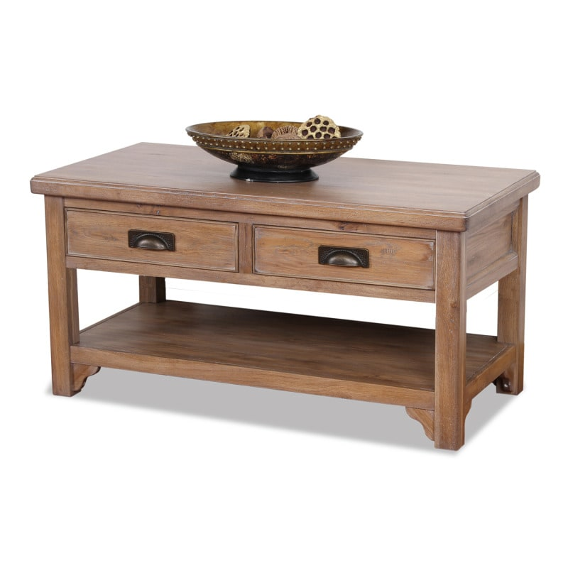 Blanched Oak Two-drawer Coffee Table
