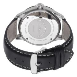 Zeno Men's 6569-515Q-A2 'Navigator' White Dial Black Leather Strap Quartz Watch - Thumbnail 1