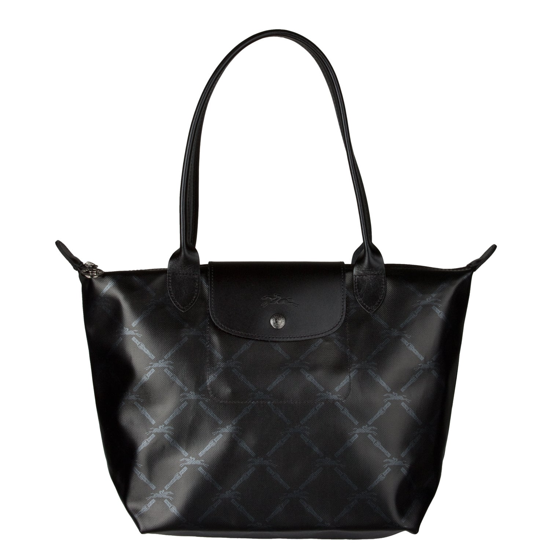 Shop Longchamp Black  Metallic Equestrian Tote Bag - Free Shipping Today -  Overstock - 6484082 5fefea9040eb6