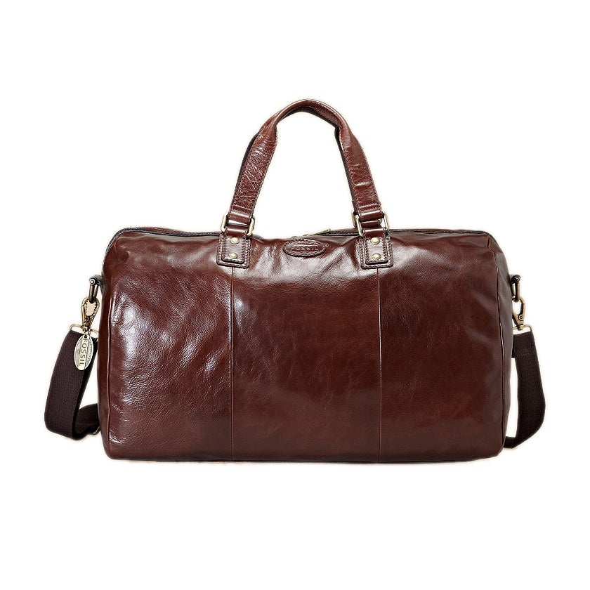 Fossil 'Transit' Brown Leather Duffle Bag