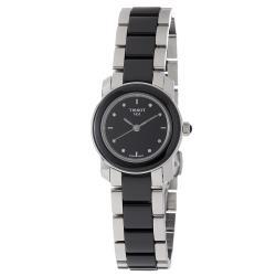 Tissot Women's 'Cera' Stainless Steel Ceramic Quartz Watch
