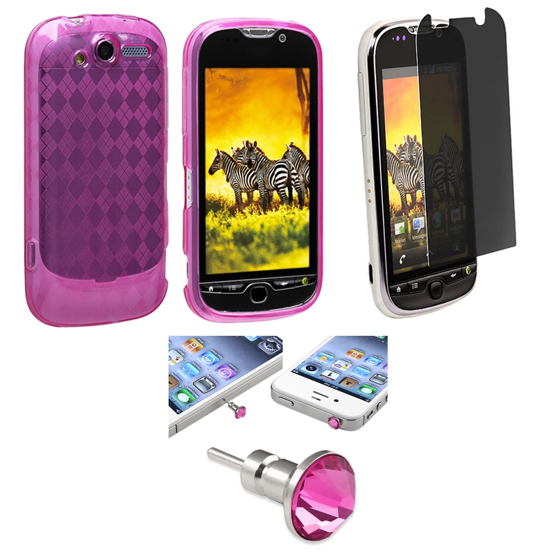 Argyle TPU Case/ Screen Protector/ Dust Cap for HTC MyTouch 4G