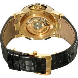 Ulysse Nardin Men's Dual Time Rose Gold Black Leather Strap Watch