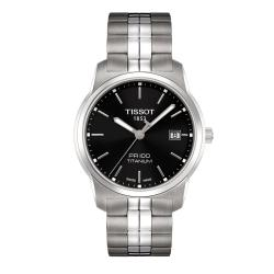 Tissot Men's T0494104405100 'PR100' Black Dial Titanium Watch