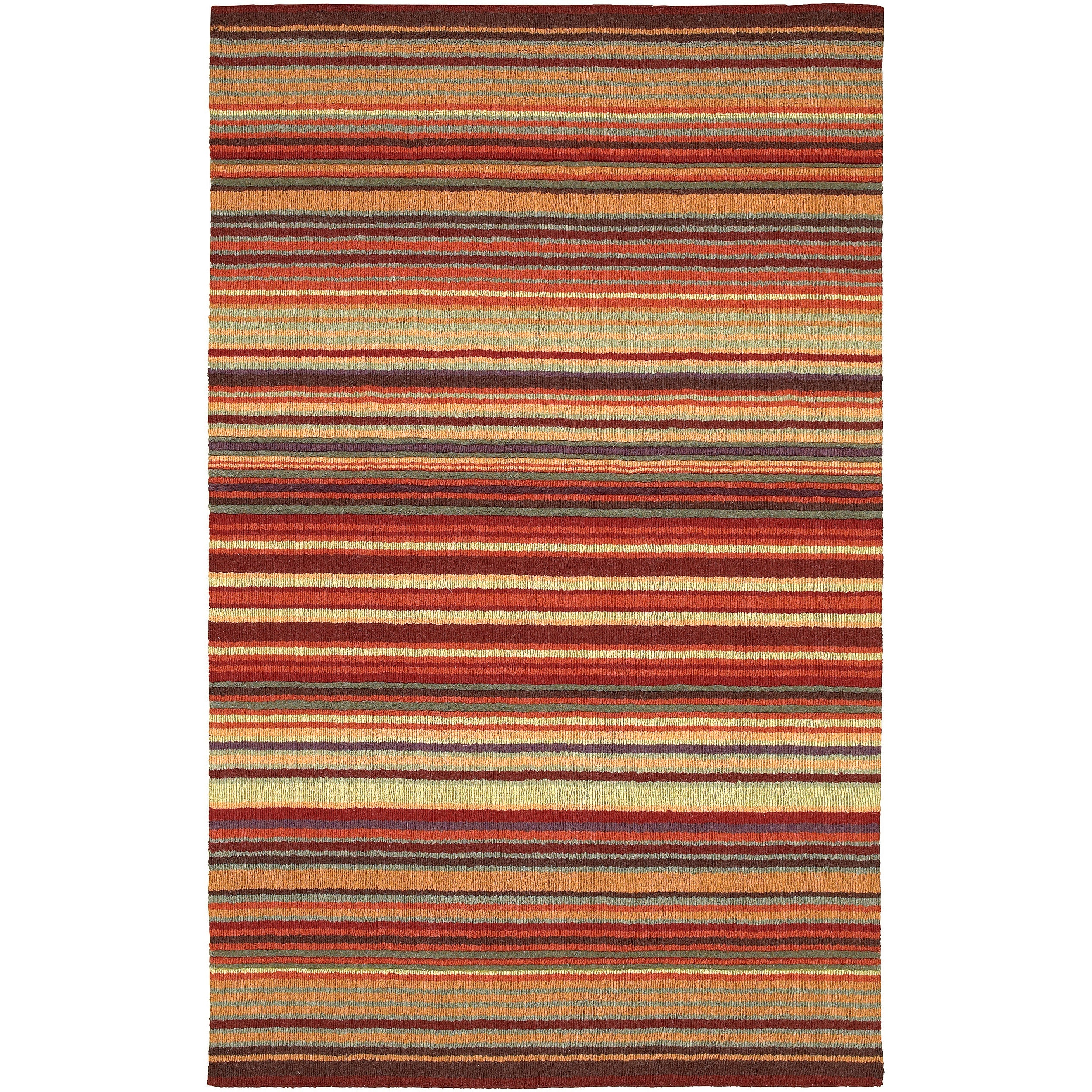 Plush Buffalo Plaid Rug: Hand-crafted Red Striped Casual Wool Cruiser Area Rug (9