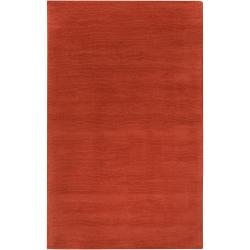 Hand-crafted Orange Solid Casual Explo Wool Rug (12' x 15')