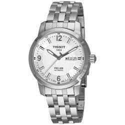 Tissot Men's 'T-Sport PRC 200' Silver Dial Stainless Steel Watch