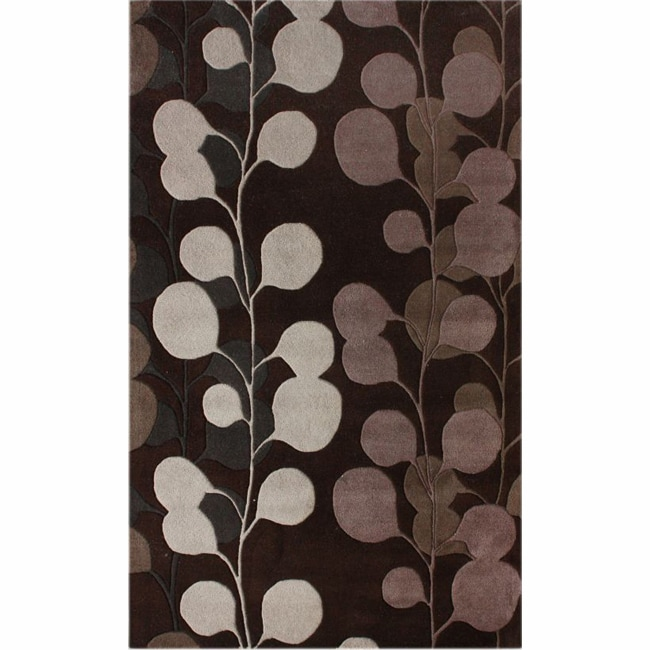 nuLOOM Handmade Blossom New Zealand Wool Rug (7'6 x 9'6)