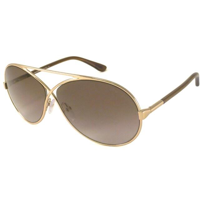 Tom Ford TF0154 Georgette Women's Aviator Sunglasses