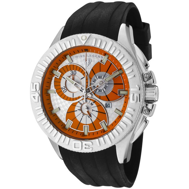 Swiss Legend Men's 'Evolution' Black Silicone Chronograph Watch