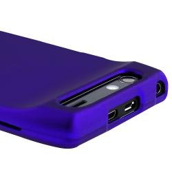 Blue Snap-on Rubber Coated Case for Motorola Droid RAZR XT910/ XT912 - Thumbnail 1